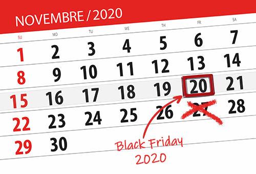 Le Black Friday 2020 en France est reporté au 4 décembre au lieu du 27 novembre